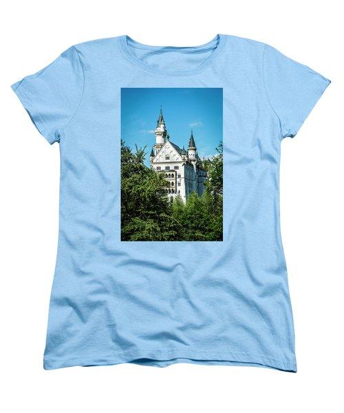 Women's T-Shirt (Standard Cut) featuring the photograph Schloss Neuschwantstein by David Morefield