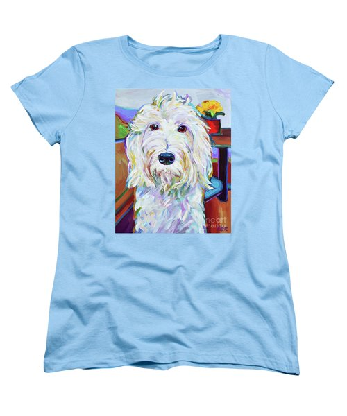 Women's T-Shirt (Standard Cut) featuring the painting Schnoodle by Robert Phelps
