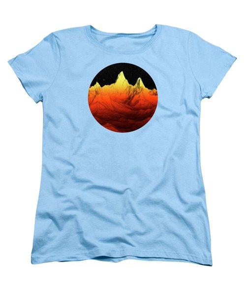 Sci Fi Mountains Landscape Women's T-Shirt (Standard Cut) by Phil Perkins