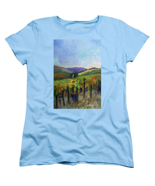 Scotts Vineyard Women's T-Shirt (Standard Cut) by Donna Walsh