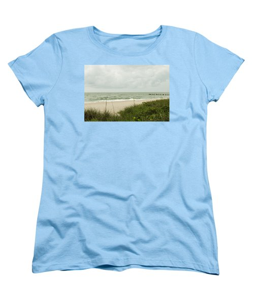 Sea Birds Awaiting The Rain Women's T-Shirt (Standard Cut) by Christopher L Thomley