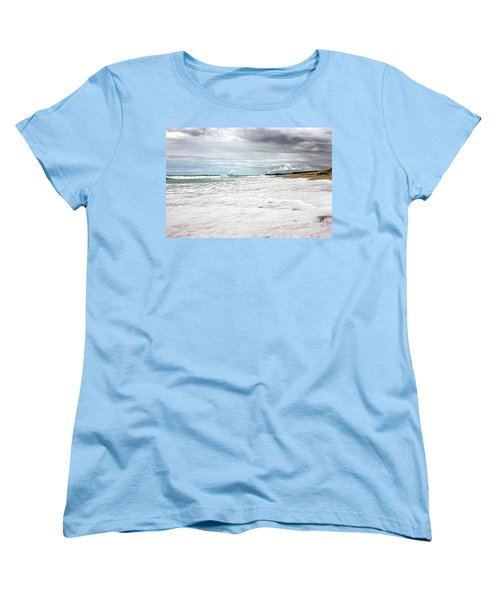 Women's T-Shirt (Standard Cut) featuring the photograph Sea Foam And Clouds By Kaye Menner by Kaye Menner