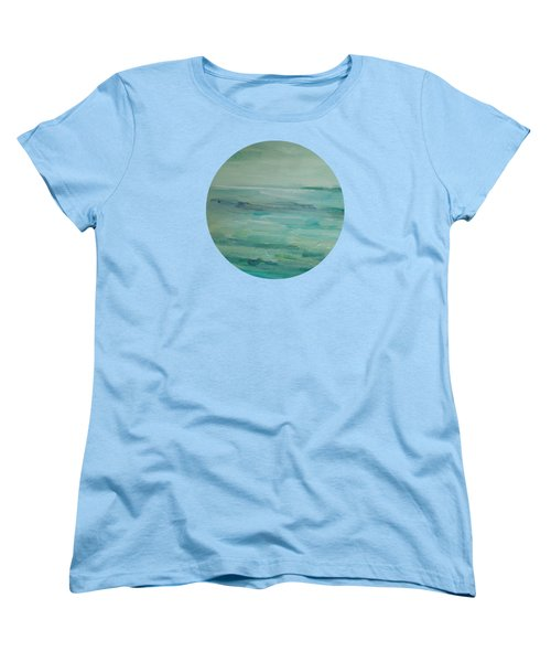 Women's T-Shirt (Standard Cut) featuring the painting Sea Glass by Mary Wolf