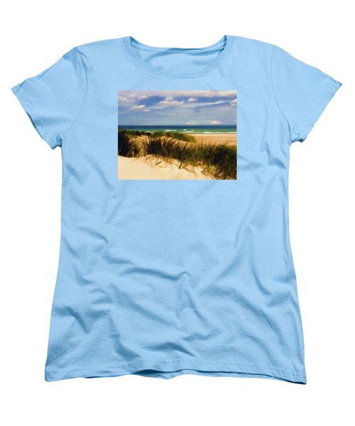 Women's T-Shirt (Standard Cut) featuring the photograph Sea Grass by Sandy MacGowan