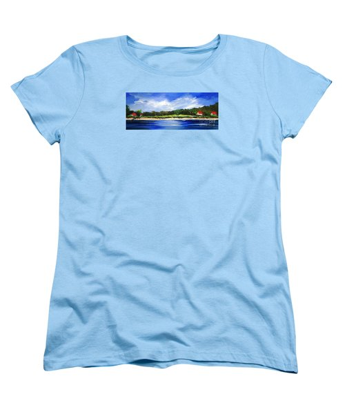 Sea Hill Houses - Original Sold Women's T-Shirt (Standard Cut) by Therese Alcorn