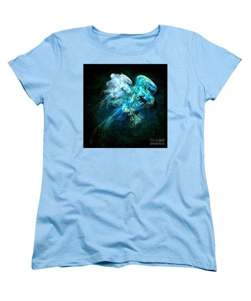 Women's T-Shirt (Standard Cut) featuring the painting Sea Jellyfish by Alexa Szlavics