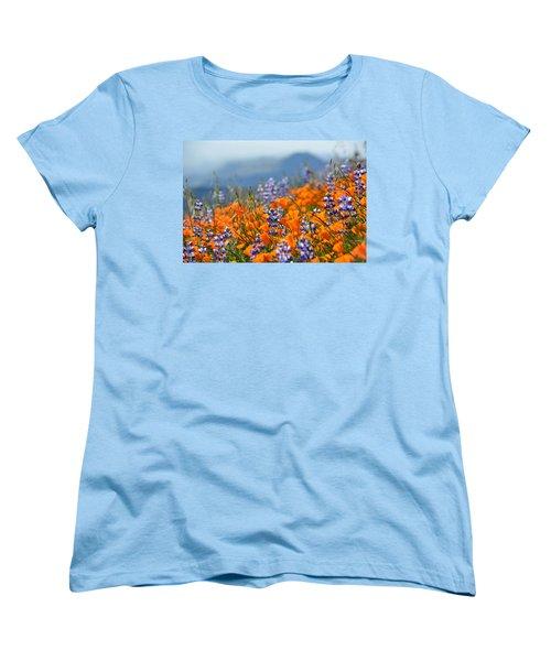 Sea Of California Wildflowers Women's T-Shirt (Standard Cut) by Kyle Hanson