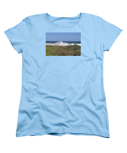 Sea Spray Women's T-Shirt (Standard Cut) by Linda Ferreira