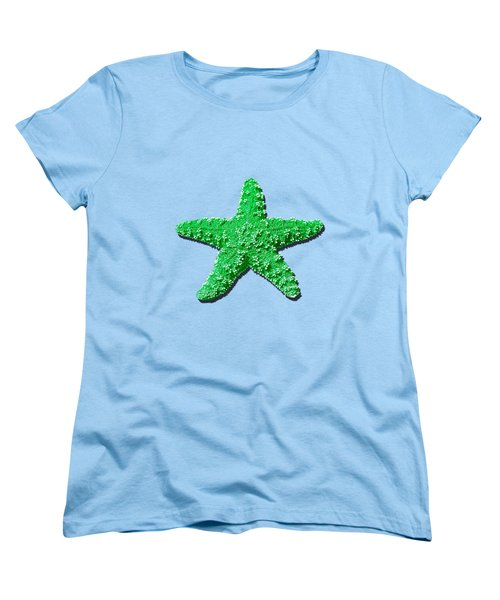 Sea Star Green .png Women's T-Shirt (Standard Cut) by Al Powell Photography USA