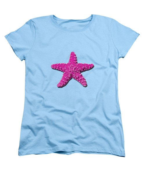 Sea Star Pink .png Women's T-Shirt (Standard Cut) by Al Powell Photography USA