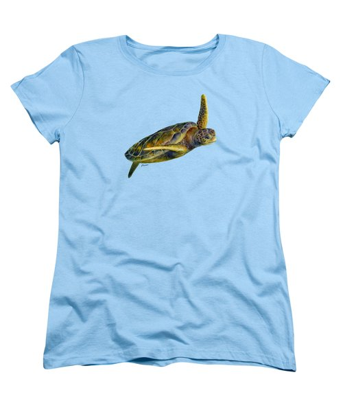 Women's T-Shirt (Standard Cut) featuring the painting Sea Turtle 2 by Hailey E Herrera