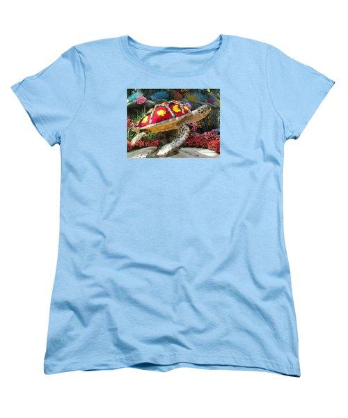 Sea Turtle Women's T-Shirt (Standard Cut) by Steven Parker