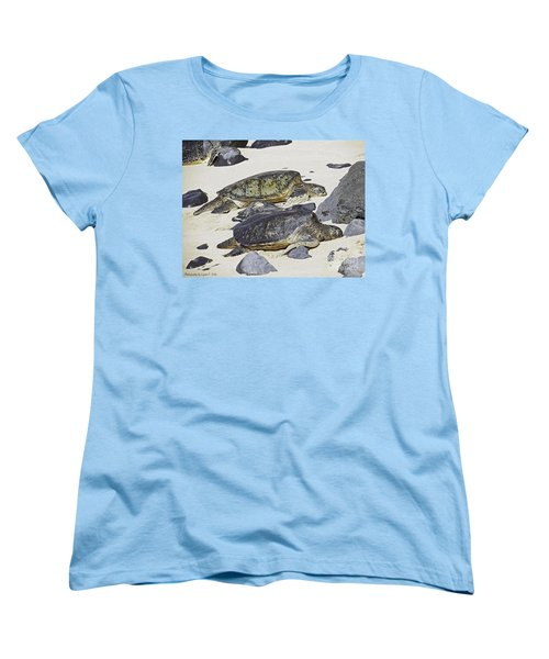 Women's T-Shirt (Standard Cut) featuring the photograph Sea Turtles by Gena Weiser