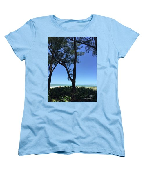 Seagrapes And Pines Women's T-Shirt (Standard Cut) by Megan Cohen