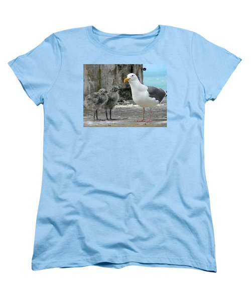 Seagull Family Women's T-Shirt (Standard Cut) by Laurel Powell