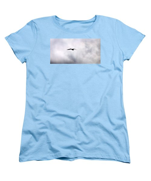 Women's T-Shirt (Standard Cut) featuring the photograph Seagull's Sky 2 by Jouko Lehto