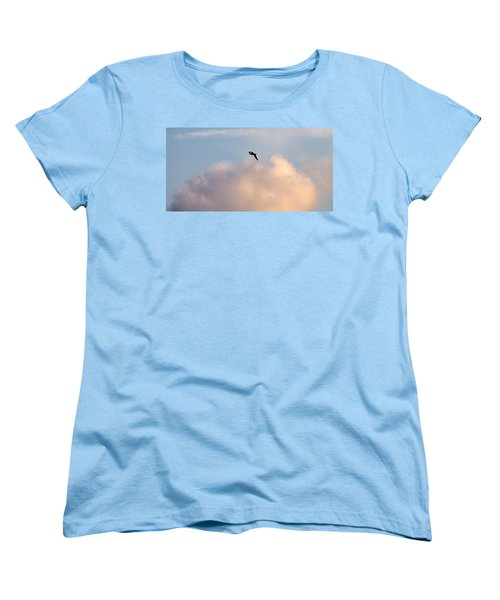 Women's T-Shirt (Standard Cut) featuring the photograph Seagull's Sky 3 by Jouko Lehto