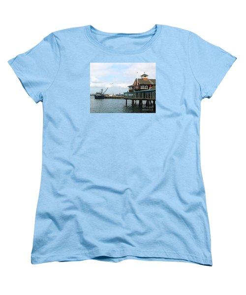 Women's T-Shirt (Standard Cut) featuring the photograph Seaport Village San Diego-2 by Cheryl Del Toro