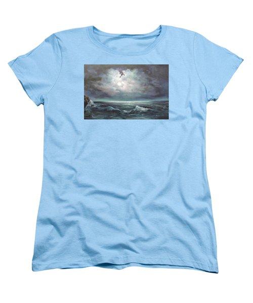 Moonlit  Women's T-Shirt (Standard Cut) by Luczay