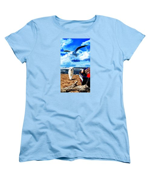 Seascape - Paesaggio Marino Women's T-Shirt (Standard Cut) by Zedi