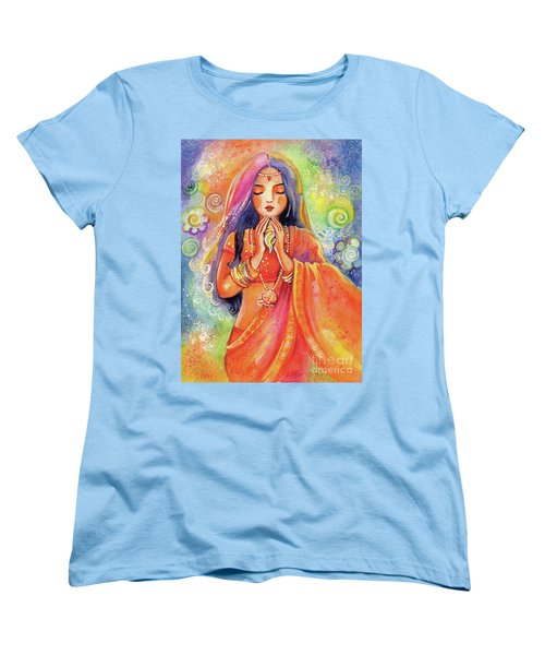 Women's T-Shirt (Standard Cut) featuring the painting Seashell Wish by Eva Campbell