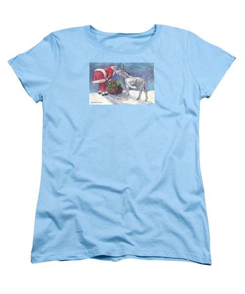 Season's Greetings Women's T-Shirt (Standard Cut) by Dawn Senior-Trask