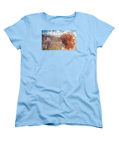 Women's T-Shirt (Standard Cut) featuring the painting Seasons Of Sweetgrass by Gertrude Palmer