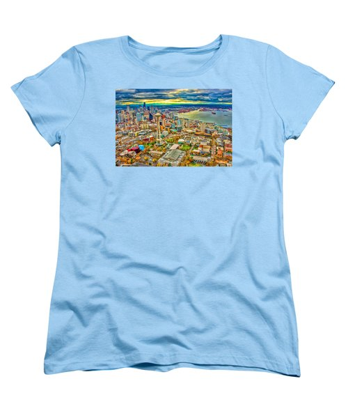 Women's T-Shirt (Standard Cut) featuring the photograph Seattle by Jerry Cahill