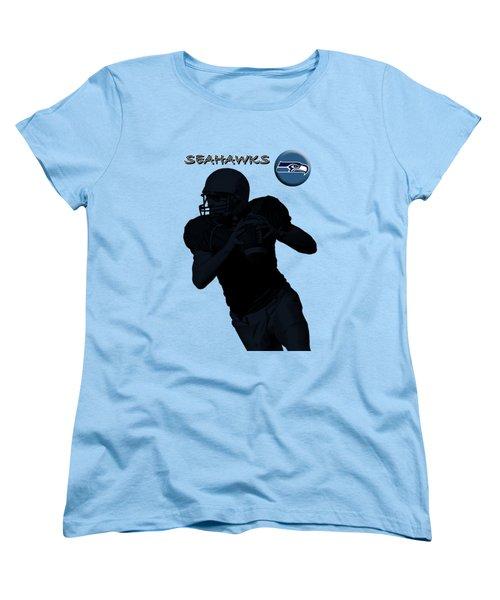 Seattle Seahawks Football Women's T-Shirt (Standard Cut) by David Dehner