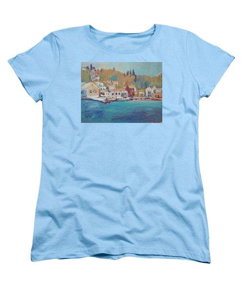 Seaview Lggos Paxos Women's T-Shirt (Standard Cut) by Nop Briex