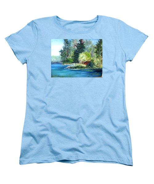 Secluded Boathouse-millsite Lake  Women's T-Shirt (Standard Cut)