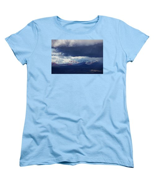 Women's T-Shirt (Standard Cut) featuring the photograph Sedona Area Third Winter Storm by Ron Chilston