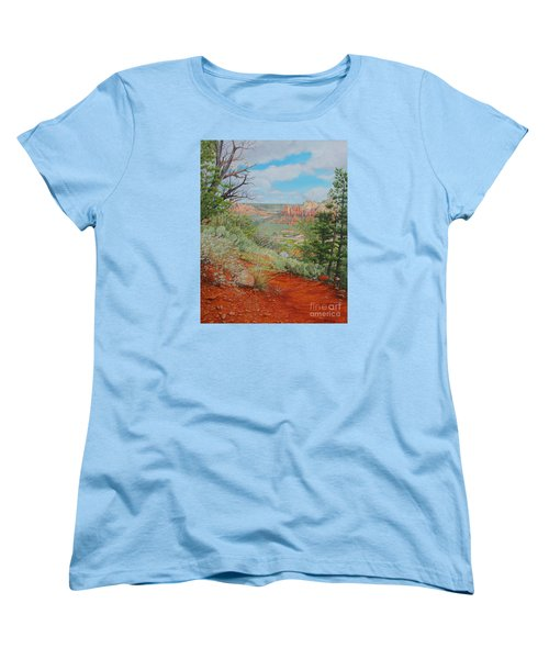Sedona Trail Women's T-Shirt (Standard Cut) by Mike Ivey