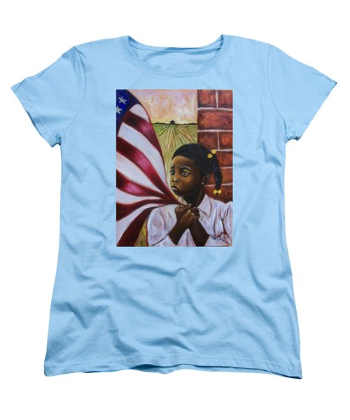 Women's T-Shirt (Standard Cut) featuring the painting See Yourself by Emery Franklin