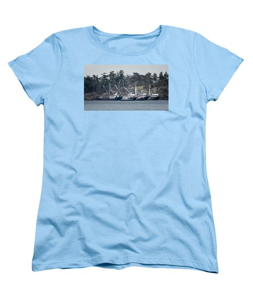 Seiners In Nw Bay Women's T-Shirt (Standard Cut) by Randy Hall