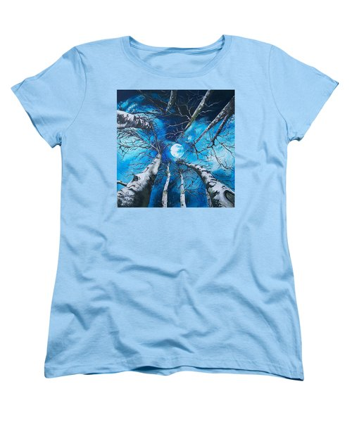 Women's T-Shirt (Standard Cut) featuring the painting Selenophilia by Sharon Duguay