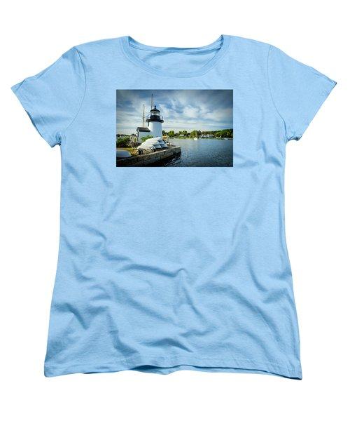 Sentinels Of The Sea Lighthouse Women's T-Shirt (Standard Cut)