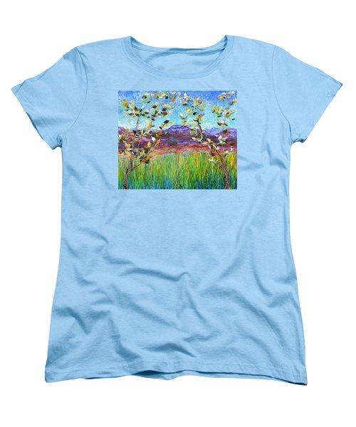Sentries Diptych Women's T-Shirt (Standard Cut) by Regina Valluzzi