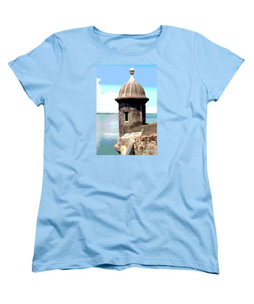 Women's T-Shirt (Standard Cut) featuring the photograph Sentry Box In El Morro by The Art of Alice Terrill