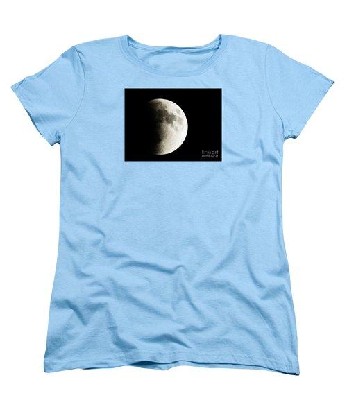 Women's T-Shirt (Standard Cut) featuring the photograph September 27,2015 Moon Eclipse  by J L Zarek