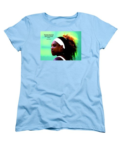 Serena Williams Motivational Quote 1a Women's T-Shirt (Standard Cut) by Brian Reaves