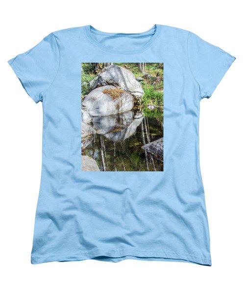 Serene Reflections Women's T-Shirt (Standard Cut) by Ed Clark