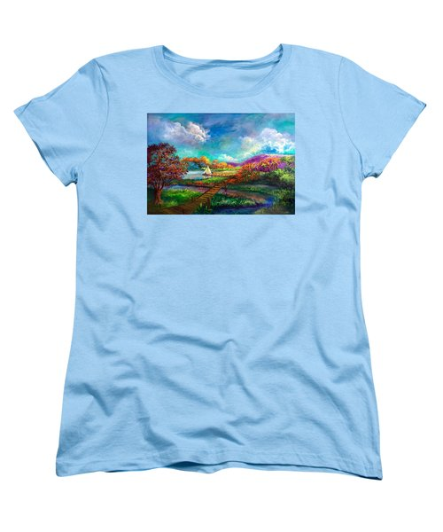 Serenely Sailing  Navegando Serenamente Women's T-Shirt (Standard Cut)