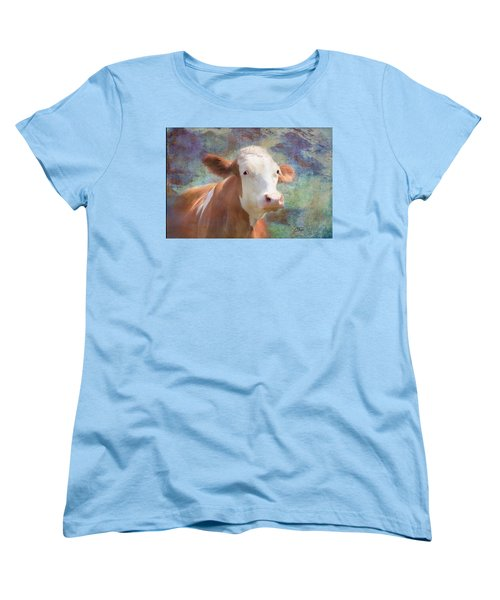 Women's T-Shirt (Standard Cut) featuring the mixed media Serious Business by Colleen Taylor