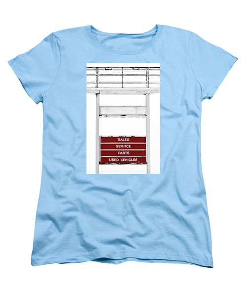 Women's T-Shirt (Standard Cut) featuring the photograph Services Rendered by Stephen Mitchell
