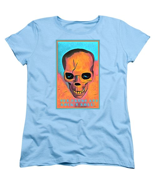 Women's T-Shirt (Standard Cut) featuring the digital art Sex Drugs And Rock N Roll by Floyd Snyder