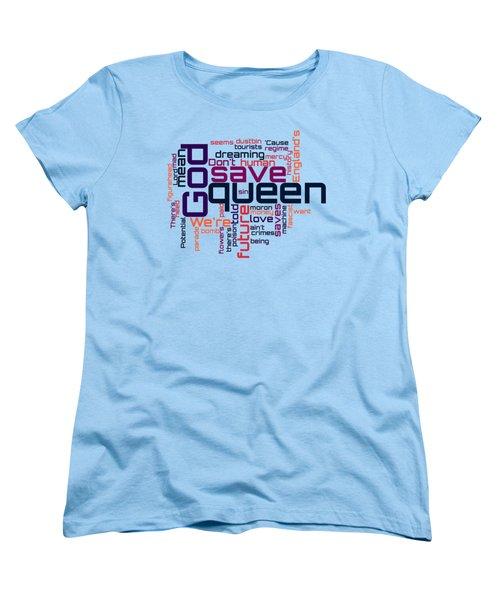 Sex Pistols - God Save The Queen Lyrical Cloud Women's T-Shirt (Standard Cut) by Susan Maxwell Schmidt
