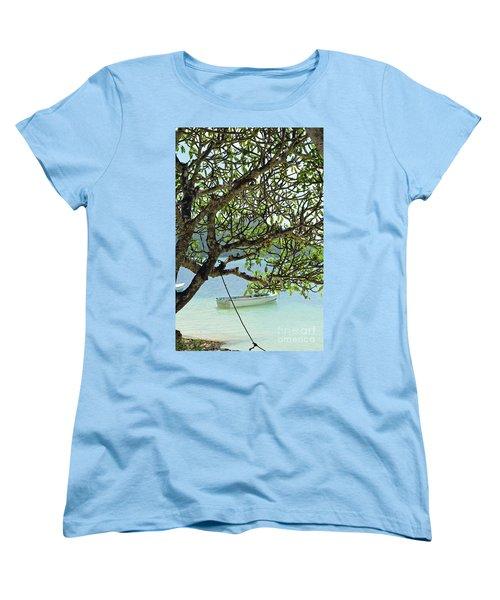 Seychelles Island Women's T-Shirt (Standard Cut) by Eva Kaufman