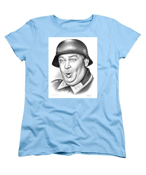 Sgt Schultz Women's T-Shirt (Standard Cut) by Greg Joens
