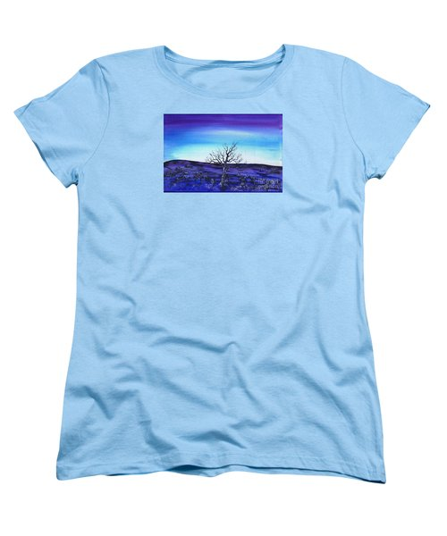 Shades Of Blue Women's T-Shirt (Standard Cut) by Kenneth Clarke
